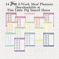 2 Week Meal Planner Two Week Meal Planners