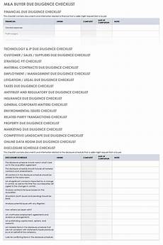 Acquisition Due Diligence Checklist Excel Free Due Diligence Templates And Checklists Smartsheet