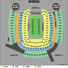 Pittsburgh Steelers Stadium Seating Chart Heinz Field Tickets Heinz Field Seating Chart