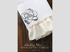 Shabby Chic Ruffled Tea Towels   Love Grows Wild