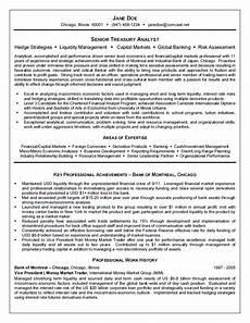 Treasury Resume Treasury Analyst Resume