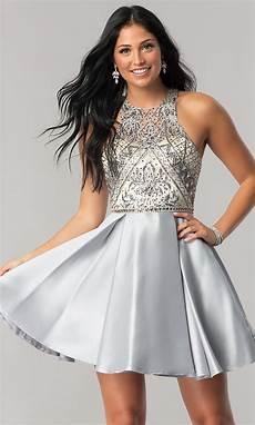 embellished illusion homecoming dress promgirl