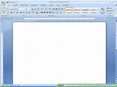 Template Microsoft Word 2007 How To Create A Brochure In Microsoft Word 2007 With Samples