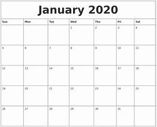 2020 Yearly Calendar Word January 2020 Word Calendar