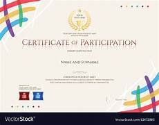 Free Certificates Of Participation Certificate Of Participation Template Royalty Free Vector
