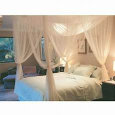 white three door princess mosquito net bed curtains