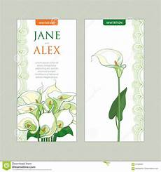 Invitation Outlines Vector Wedding Invitation With Outline Bouquet Calla Lily