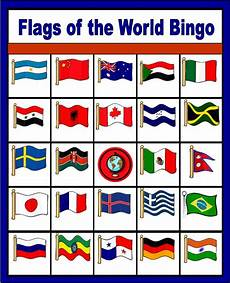 Flags Of The World Chart Printable Flags Of The World Bingo Free Printable Only Enough For