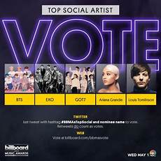 Billboard Chart Achievement Award 2019 Bbmas Voting Opens For Top Social Artist And
