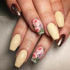 Acrylic Nails With Flower Design Best Summer Acrylic Nail Art Design Ideas For 2016