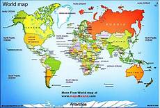 Continent World Map World Map World Map Showing All The Continents With All