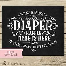 Raffle Ticket Signs Chalkboard Baby Shower Diaper Raffle Ticket By