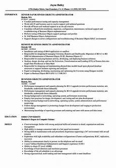 Business Objects Resume Samples Business Objects Administrator Resume Samples Velvet Jobs