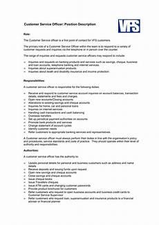 Duties Of A Customer Service Executive Customer Service Officer Job Description