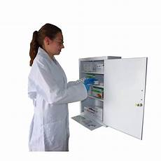 wall mounted metal aid cabinet with solid panel door