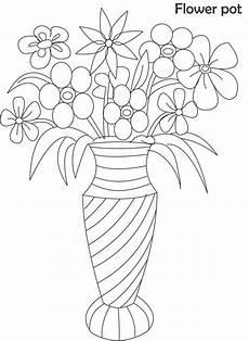 Ausmalbilder Blumenvase Blumenvasen Malvorlagen Zum Ausdrucken 27