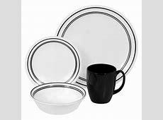 Corelle Livingware Classic Cafe Black 16 Piece Dinnerware