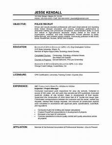 Sample Resume Police Officer Police Officer Resume Sample Objective Http Www