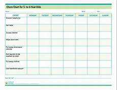 Chore Chart For 6 Year Old Chore Chart For Kids 5 6 Years Old Free Download From