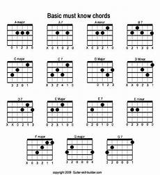 Printable Guitar Chords Chart Pdf Free Printable Guitar Chord Chart Basic Guitar Chords