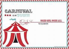 Carnival Theme Party Invitations Templates Download Now Free Carnival Birthday Invitations Carnival