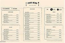 Free Menu Layout Restaurant Menu Design Template Layout With Logo Stock