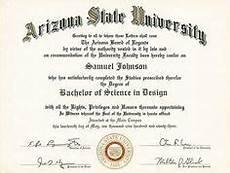 Fake Bachelor Degree Template Free Printable College Degree Templates Asu College