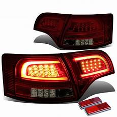 Audi A4 Smoked Lights 05 08 Audi B7 A4 S4 Avant Smoked Housing Red Lens 3d Led