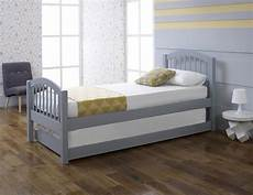 limelight despina 3ft single grey wooden bed with guest