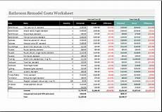 Remodel Worksheet Remodeling Costs Per Square Foot Calculator