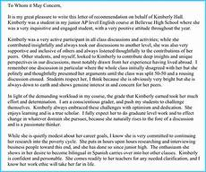 Letters To Teachers From Students Teacher Recommendation Letter 20 Samples Fromats