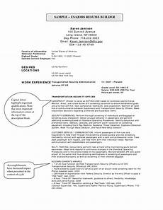 Resume Usa Template Usajobs Online Resume Builder Http Www Jobresume