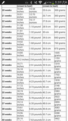 28 Weeks Baby Weight In Kg Chart Baby Weights 11 Ounces At 21 Weeks Babycenter