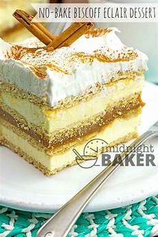no bake biscoff eclair dessert the midnight baker