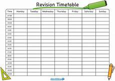 Blank Revision Timetable Timetable Templates For School In Excel Format