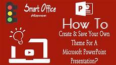 Powerpoint Custom Background Create Amp Save Your Own Theme In Powerpoint 2016 Youtube