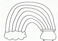 Rainbow Printable Template Pom Pom Rainbow Craft For St Patrick S Day Free