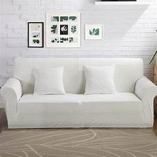 White Sofa Cover 3d Image by Aliexpress Buy 100 Polyester Knitted Fabric White
