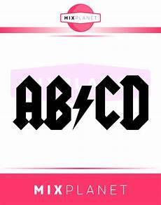 Abcd Logo Design Kids Design Abcd Cutting Files Acdc Thunder Tshirt Design