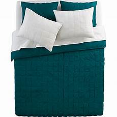 mahalo blue green bed linens in bed linens cb2 green