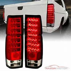 Nissan Hardbody Clear Lights 1986 97 Red Clear Led Back Lights Pair For Nissan D21