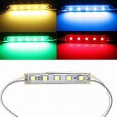 Led Module Lights 5 Colors 5 Smd 5050 Led Module Light Waterproof