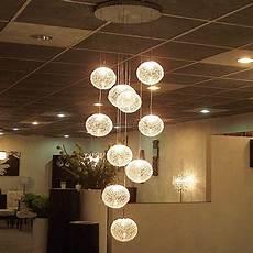 Ball Ceiling Light Modern Large Led Chandeliers Stair Long Globe Glass Ball
