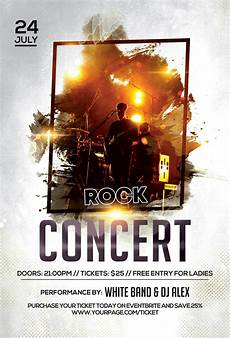 Concert Flyer Psd Music Concert Free Psd Flyer Template Freebie Psdflyer Co