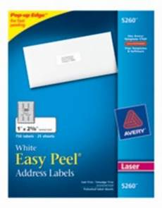 Avery Label Templates 5260 Easy Peel White Address Labels 5260