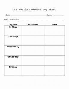 Weekly Exercise Log 5 Best Images Of Weekly Log Sheets Printable Weekly