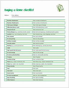 Shopping Checklists Buying A Home Checklist Template For Ms Word Word