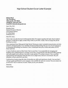Cover Letter Examples For Students Cover Letter Template For High School Students With