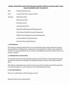 Business Meeting Minutes Template Free Informal Minutes Template 9 Free Word Pdf Documents