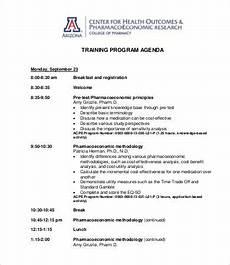 Sample Of Program Agenda Program Agenda Template 8 Free Word Pdf Documents
